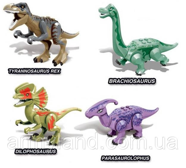 Конструктор Набор №10 Динозавров 4шт , аналог Лего