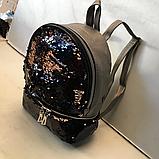 Рюкзаки с двухсторонними паетками (СЕРЕБРО)21*26см, фото 5