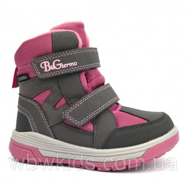 Термо ботинки зимние детские B&G R21-13/0212 для девочки р.28