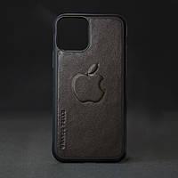 Кейс для IPhone, шоколад глянець, з металевою вставкою для автотримача