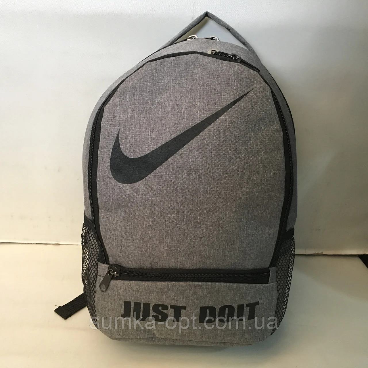 Спортивные текстильные рюкзаки NIKE (СЕРНЫЙ)28х38см