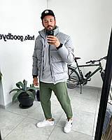 Куртка мужская зимняя воротник стойка серый