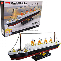 Конструктор Sluban Model Brick Титаник, 481 деталь, масштаб 1:700 (M38-B0835)