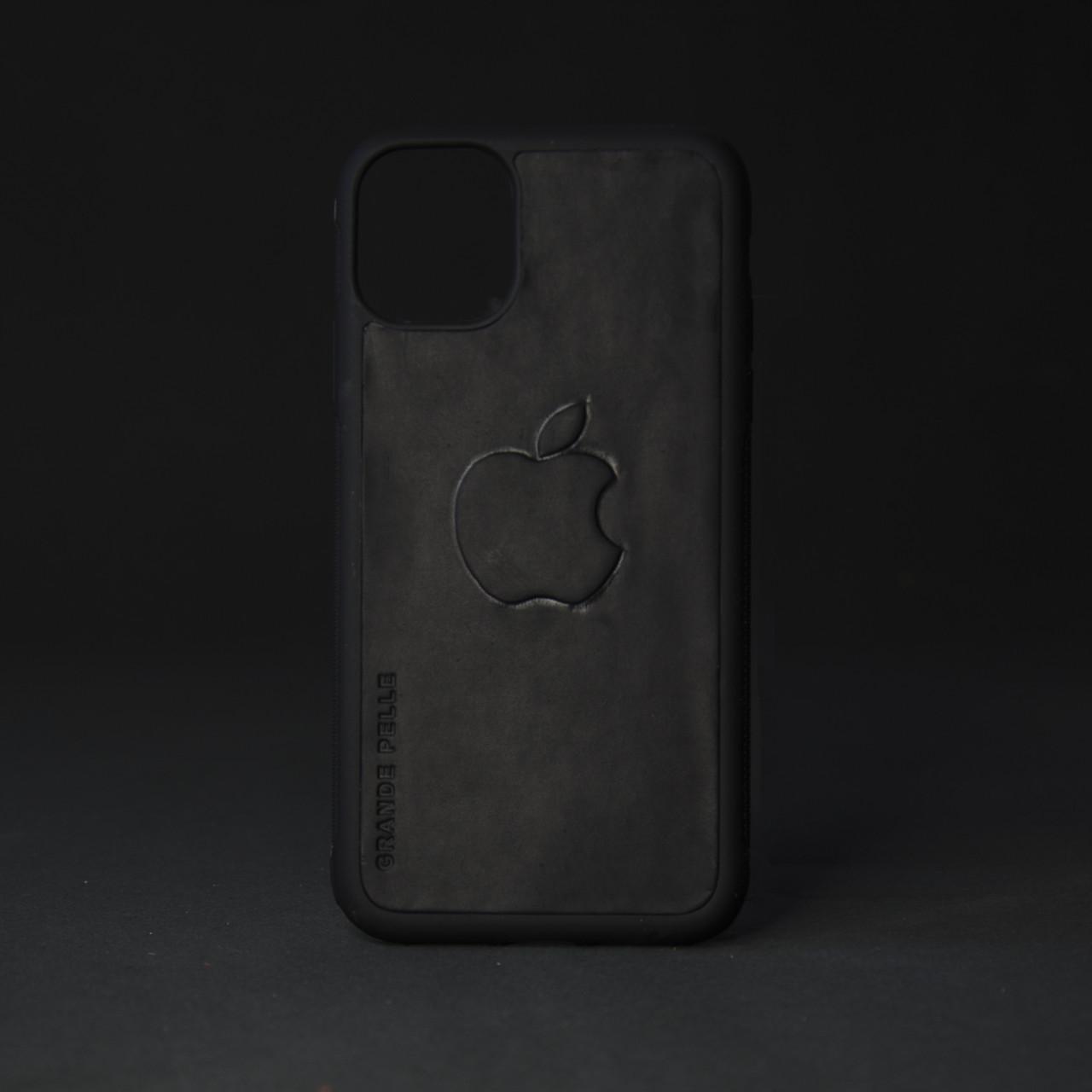 Кейс для IPhone, чорний, матовий з металевою вставкою для автотримача