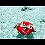 Оригинальный надувной матрас для пляжа Губы, большой плот для плавания Lips, фото 9