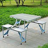 Туристический стол трансформер походной, стол чемодан раскладной для кемпинга стол +4 стула, набор для пикника, фото 8