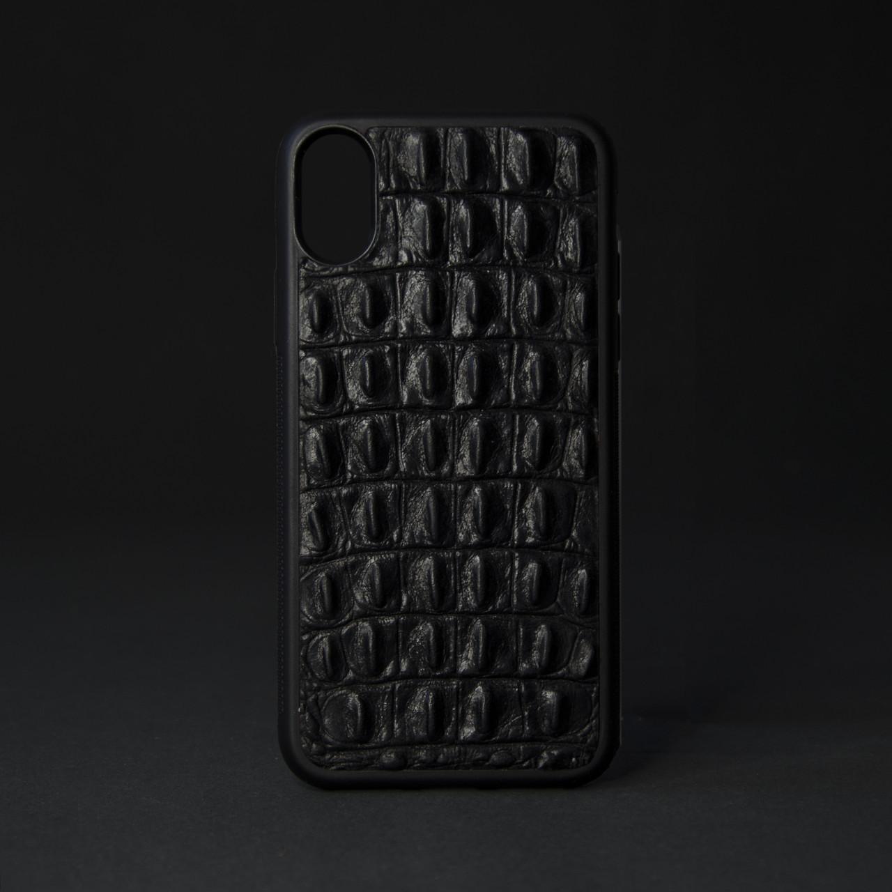 """Кейс для IPhone, чорний """"Рептилія"""""""