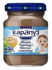 Пюре Карапуз Яблоко и черника с овсяными хлопьями c 4 мес, 125 г