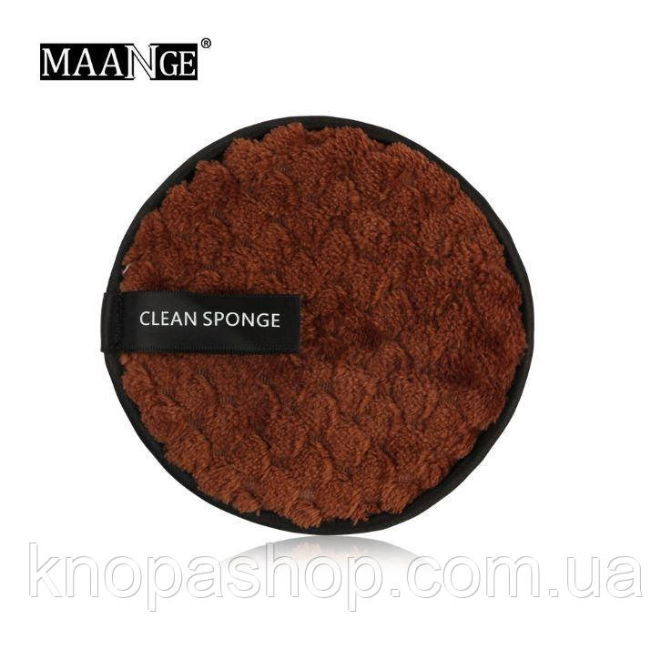 Лінива губка, спонж для вмивання без використання хімії (коричневий)
