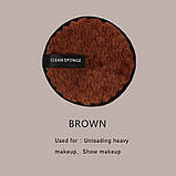 Ленивая губка, спонж для умывания без использования химии (коричневый), фото 2