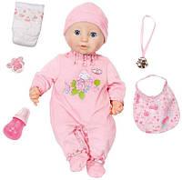 Интерактивная Игрушка Кукла Пупс Беби Аннабель Настоящая малютка 43 см 10 версия Baby Born Annabell Doll Zapf