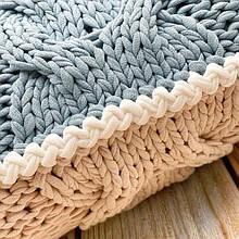 Обвязка подушки крючком | Красивое соединение деталей вязаных аксессуаров