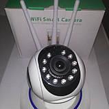 Смарт-WiFi IP камера 3-антенна PTZ 2-мегапиксельная 1080P, фото 6