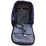 Сумка антивор в стиле Bobby mini. Рюкзак-антивор с USB портом Bobby Backpack, фото 5