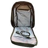 Сумка антивор в стиле Bobby mini. Рюкзак-антивор с USB портом Bobby Backpack, фото 6