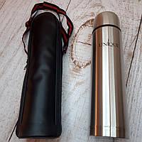 Термос металлический UNIQUE 750мл с чехлом вакуумный питьевой термос 0,75л металл (Живые фото)