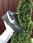 Мужские зимние кроссовки Nike Air Force (черно-белые) 10020, фото 3