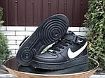 Мужские зимние кроссовки Nike Air Force (черно-белые) 10020, фото 4