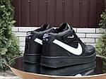 Мужские зимние кроссовки Nike Air Force (черно-белые) 10020, фото 5