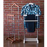 Вешалка для одежды напольная Комфорт 2 в минималистическом стиле. Стойка для одежды из массива березы, фото 9