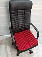 Подушка накидка для сидения на кресла руководителя EKKOSEAT ортопедическая. Красная