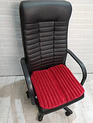 Подушка накидка для сидіння крісла керівника EKKOSEAT ортопедична. Червона