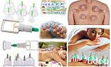 Набор массажных банок вакуумных медицинских антицеллюлитных с насосом dykl для домашнего массажа 6шт, фото 6
