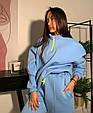 Модный женский теплый костюм свободного кроя на манжетах (Норма), фото 4