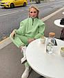 Модный женский теплый костюм свободного кроя на манжетах (Норма), фото 2