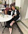 Модный женский теплый костюм свободного кроя на манжетах (Норма), фото 3