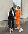 Модный женский теплый костюм свободного кроя на манжетах (Норма), фото 5
