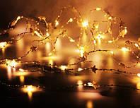 Гирлянда светодиодная ZABI-5 Звезды золотые с бусинами и звездочками, 2м 20 LED лампочек