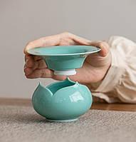 Чайный фильтр керамический в форме лотоса, фото 2