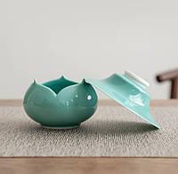 Чайный фильтр керамический в форме лотоса, фото 3