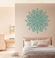 Виниловая наклейка Индийская мандала (менди узор Индия символы орнамент круглые наклейки) матовая 1000х1000 мм