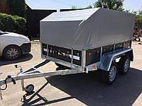 Прицеп легковой бортовой двухосный Оптима 2500х1500 тент и каркас 115см, фото 1