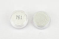 Пигмент перламутровый  Белое серебро 751 (10-60 μm). Для мыла, маникюра, декора, смолы,бетона. 2 мл