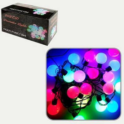 Гирлянда светодиодная HLV Лампочки 20 LED цветная 3.5 м