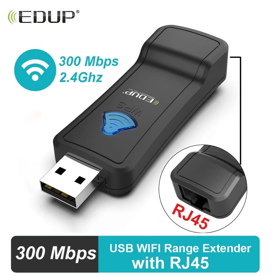 USB WiFi-RJ45 адаптер для Smart TV,Android приставок, PS4,XBox.проекторов, принтеров и т.д. EDUP EP-2911S