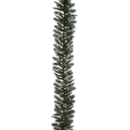 Гирлянда 270 см. декоративная Empress зеленая с инеем и шишками, Triumph Tree, фото 2