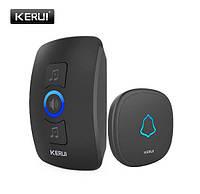 Бездротовий дверний дзвінок 433МГц 32 мелодії KERUI M525 з сигналізацією, фото 1
