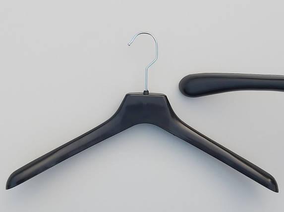 Плечики пластмассовые  №4 черного цвета, длина 43 см, фото 2