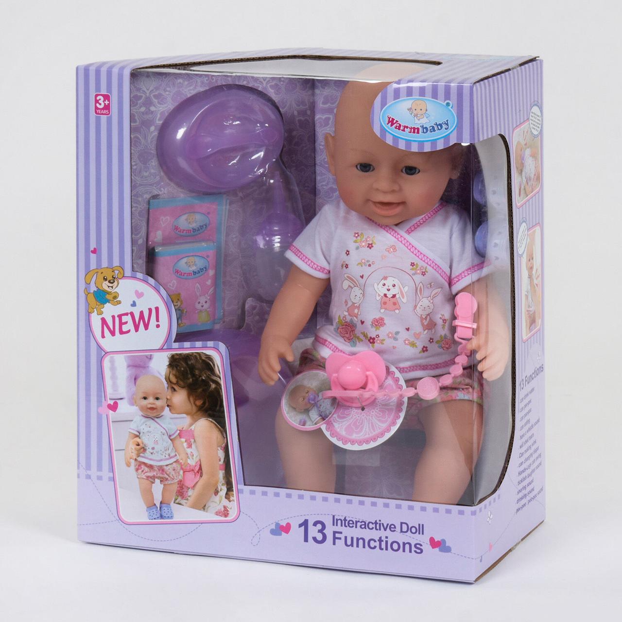 """Кукла Реборн (пупс), девочка """"Warm Baby"""" 13 функций, звуковые эффекты, на батарейках вид 3"""