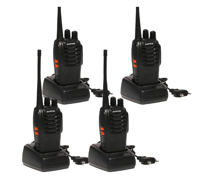 Рація, радіостанція Baofeng BF-888S (4 ШТ.) Комплект з 4 рацій Baofeng 888S.