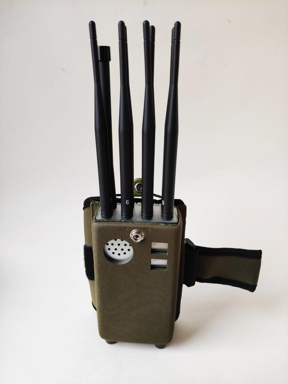 "Мощная портативная глушилка сотовой связи ""Хищник Макси"" GSM, 4G, 3G, DCS, GPS, Wi-Fi / Bluetooth, VHF/LOJACK"