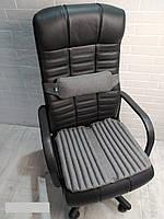 Ортопедические подушки EKKOSEAT для сидения на кресло руководителя (комплект). Черная