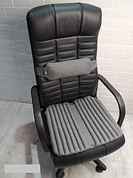 Ортопедичні подушки EKKOSEAT на крісло керівника (комплект). Чорна