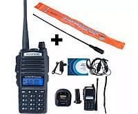 Рация, радиостанция Baofeng UV-82 + усиленная антенна NA-771 + Гарнитура!