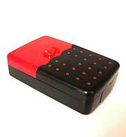 Дорожный набор для контактных линз с контейнером, пинцетом, бутылочкой, зеркалом, присоской, красный, Бантик