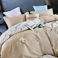 Евро комплект постельного белья с простыню на резинке 180х200+20см | Постільна білизна Євро комплект